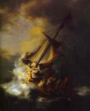 Rembrandt 1633 storm on Galilee - Copy